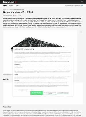 Bonedo.de Test Preview: Numark Mixtrack Pro 2