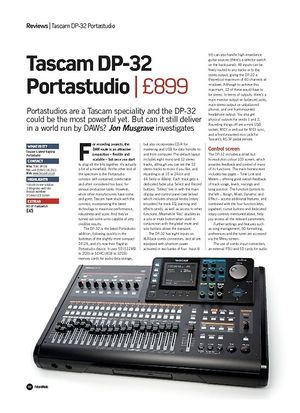 Future Music Tascam DP-32 Portastudio