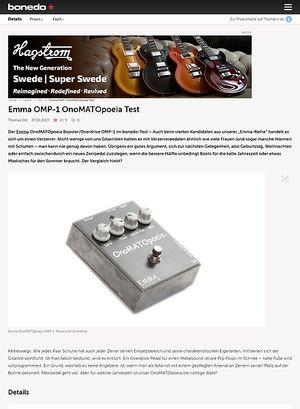 Bonedo.de Emma OMP-1 OnoMATOpoeia Test