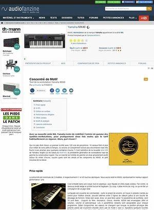 Audiofanzine.com Yamaha MX49