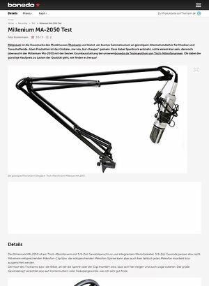 Bonedo.de Millenium MA-2050 Test