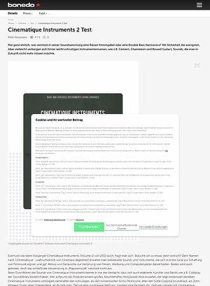Bonedo.de Cinematique Instruments 2