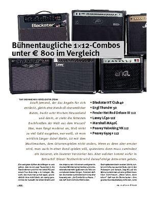 Gitarre & Bass Im Vergleich! Bühnentaugliche 1x12-Combos unter € 800