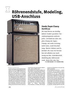 Gitarre & Bass Fender Super Champ X2+SC112, Mini-Stack
