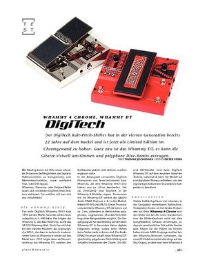 Gitarre & Bass DigiTech Whammy 4 Chrome, Whammy DT, FX