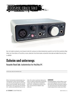Sound & Recording Focusrite iTrack Solo - Audiointerface für iPad, Mac und PC