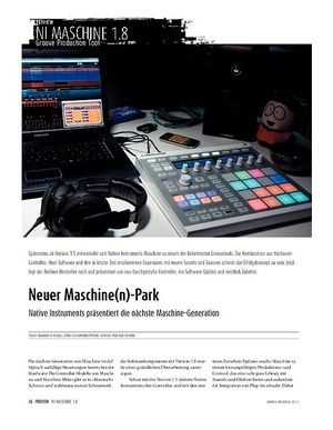 Sound & Recording Preview: Native Instruments Maschine − Die neue Groove-Workstation