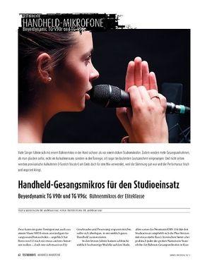 Sound & Recording Beyerdynamic TG V90r und TG V96c - Bühnenmikros der Eliteklasse