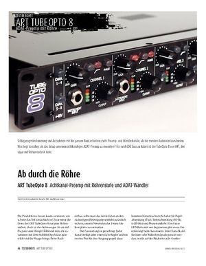 Sound & Recording ART TubeOcto 8 − Achtfach Preamp/ADAT-Interface