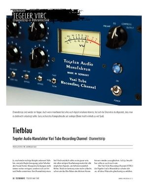 Sound & Recording Tegeler Audio Manufaktur Vari Tube Recording Channel − Channelstrip