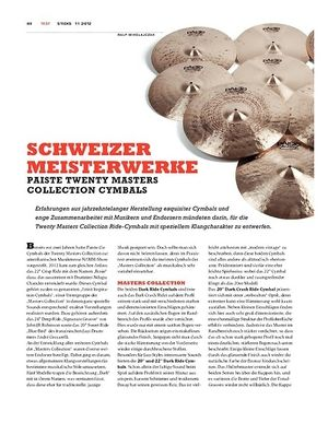Sticks Paiste Twenty Masters Collection Cymbals