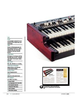 Keyboards Clavia Nord C2D – Doppel-Update der Zugriegel-Orgel