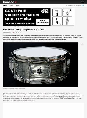 Bonedo.de Gretsch Brooklyn Maple 14