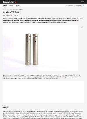 Bonedo.de Rode NT5 Test