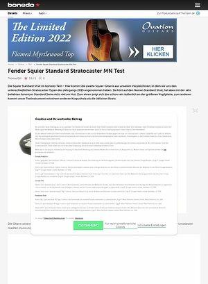 Bonedo.de Fender Squier Standard Strat MN Test