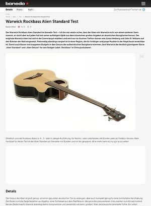 Bonedo.de Warwick Rockbass Alien Standard Test