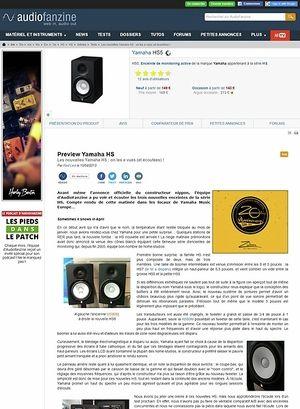 Audiofanzine.com Yamaha HS5