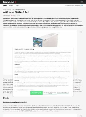Bonedo.de AMS Neve 2264ALB Test
