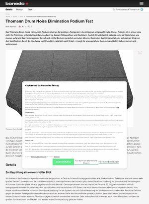 Bonedo.de Thomann Drum Noise Elimination Podium Test