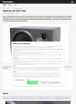 Bonedo.de Neumann KH 310 A Test