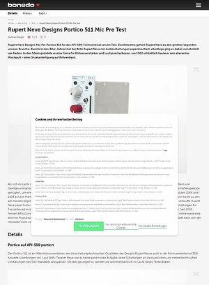 Bonedo.de Rupert Neve Designs Portico 511 Mic Pre Test