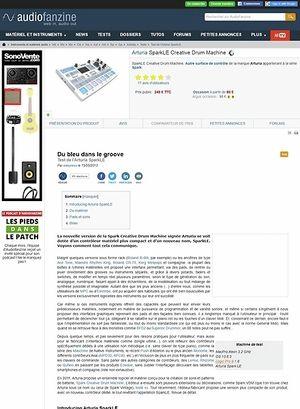 Audiofanzine.com Arturia SparkLE Creative Drum Machine