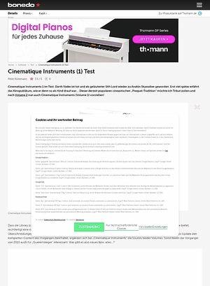 Bonedo.de Cinematique Instruments (1) Test