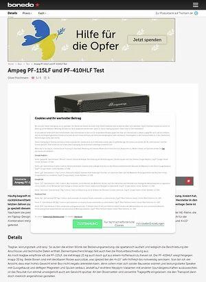 Bonedo.de Ampeg PF-115LF und PF-410HLF Test