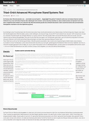 Bonedo.de Triad-Orbit Advanced Microphone Stand Systems Test