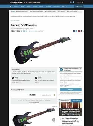 MusicRadar.com Ibanez UV70P