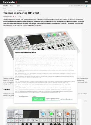 Bonedo.de Teenage Engineering OP-1 Test