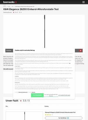 Bonedo.de K&M Elegance 26200 Einhand-Mikrofonstativ Test