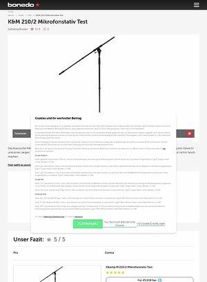 Bonedo.de K&M 210/2 Mikrofonstativ Test