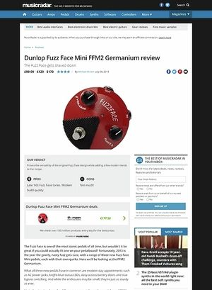 MusicRadar.com Dunlop Fuzz Face Mini FFM2 Germanium