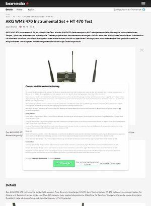 Bonedo.de AKG WMS 470 Instrumental Set + HT 470 Test