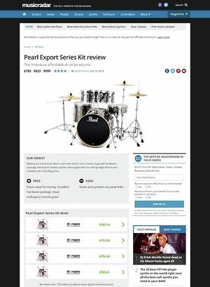 MusicRadar.com Pearl Export Series Kit