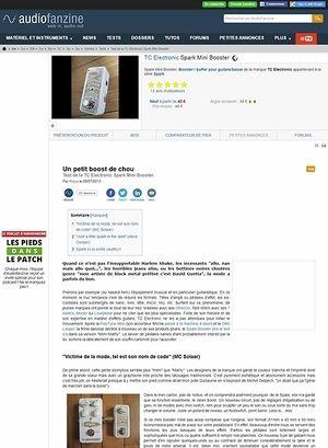 Audiofanzine.com TC Electronic Spark Mini Booster