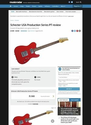 MusicRadar.com Schecter USA Production Series PT