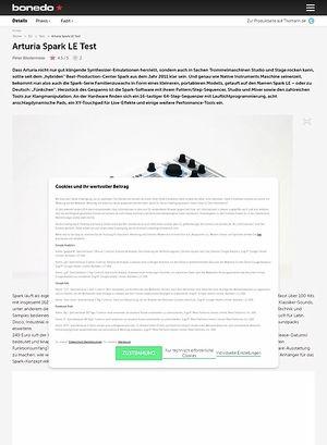 Bonedo.de Arturia Spark LE Test