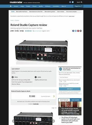 MusicRadar.com Roland Studio Capture