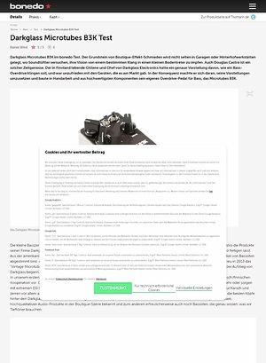Bonedo.de Darkglass Microtubes B3K Test