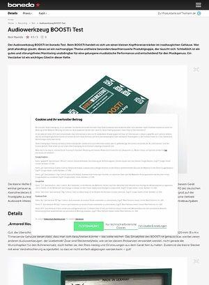 Bonedo.de Audiowerkzeug BOOSTi Test