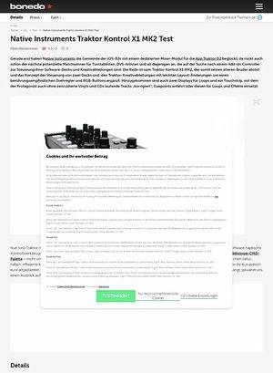 Bonedo.de Native Instruments Traktor Kontrol X1 MK2 Test
