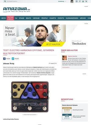 Amazona.de Test: Electro Harmonix Epitome, Gitarren Multieffektgerät