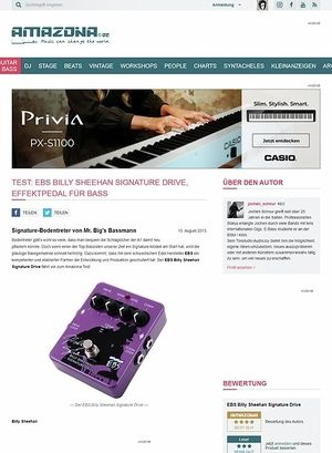Amazona.de Test: EBS Billy Sheehan Signature Drive, Effektpedal für Bass