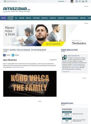 Amazona.de Test: Korg Volca Bass, Synthesizer