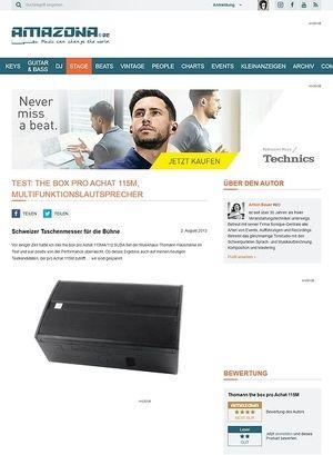 Amazona.de Test: the box pro Achat 115M, Multifunktionslautsprecher