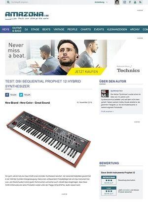 Amazona.de Test: Dave Smith Instruments Prophet 12, Hybrid-Synthesizer
