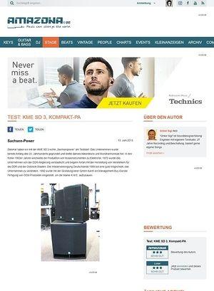 Amazona.de Test: KME SD 3, Kompakt-PA