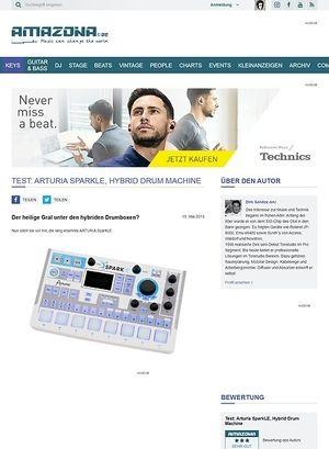 Amazona.de Test: Arturia SparkLE, Hybrid Drum Machine